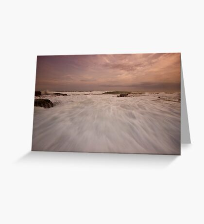 Bar Beach Rock Platform 10 Greeting Card