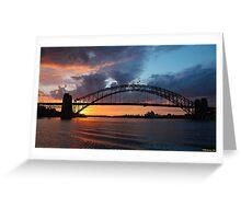 Dawn of the Emerald City - Sydney Harbour,Sydney Australia Greeting Card