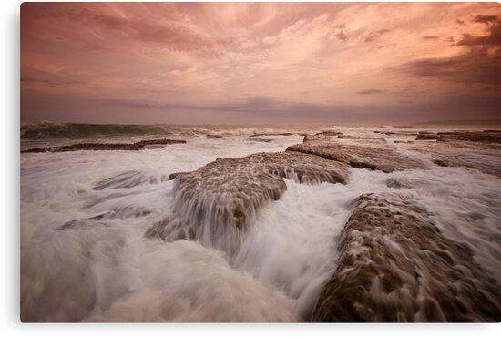 Bar Beach Rock Platform 11 by Mark Snelson