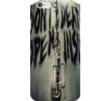 ZOMBIE- DONT OPEN DEAD INSIDE iPhone Case/Skin