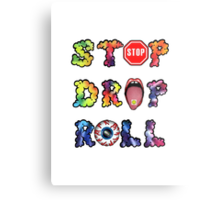 Stop, drop and roll Rainbow Metal Print
