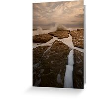 Bar Beach Rock Platform 12 Greeting Card