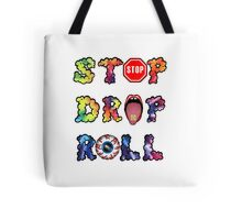 Stop, drop and roll Rainbow Tote Bag