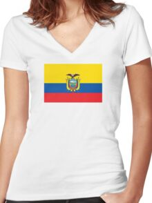 Ecuador - Standard Women's Fitted V-Neck T-Shirt
