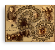 Game of the Goose, Lord of the rings Canvas Print