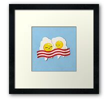 Breakfast Love Framed Print