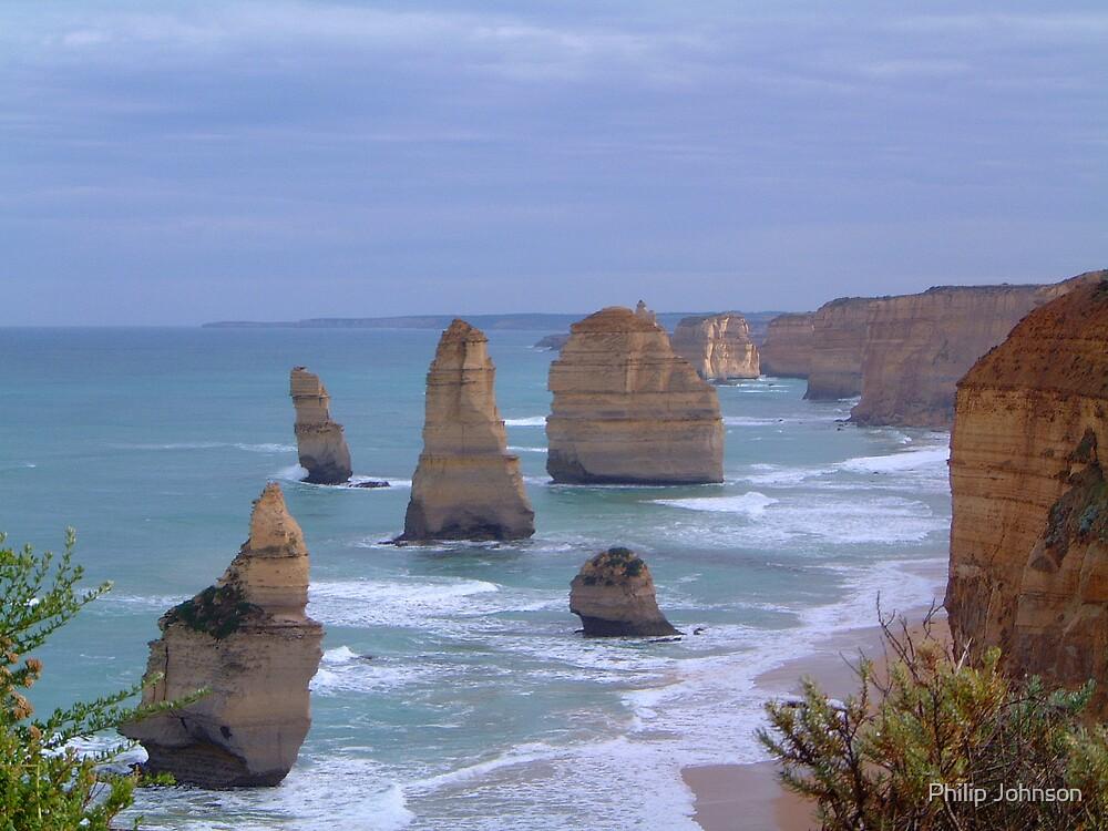 Survivors in Stone - Great Ocean Road, Victoria Australia by Philip Johnson