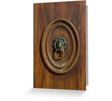 Venice Doorhandle Greeting Card