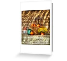 A still life with pumpkins Greeting Card