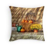 A still life with pumpkins Throw Pillow