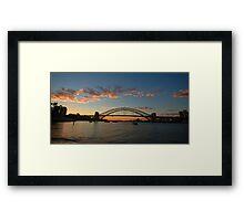 Wisps Of Day- Sydney Harbour, Sydney Australia Framed Print