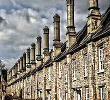 Row of houses by Roxy J