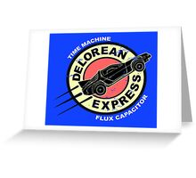 Delorean Express Greeting Card