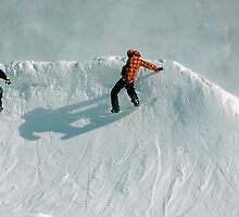 snowboard shadow by Roslyn Lunetta