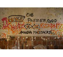 Amanda Massacre Photographic Print