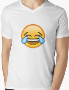 Emoji Crying With Laughter Face Mens V-Neck T-Shirt
