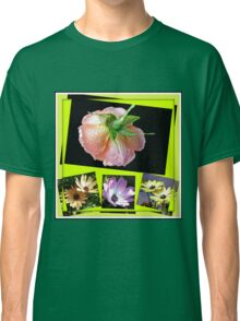 Sunshine and Rain - Rose and Cape Daisies Collage  Classic T-Shirt