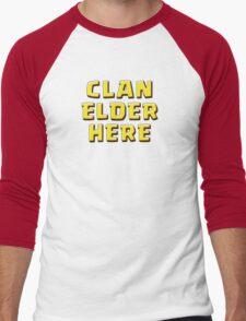 Clan Elder Here Men's Baseball ¾ T-Shirt