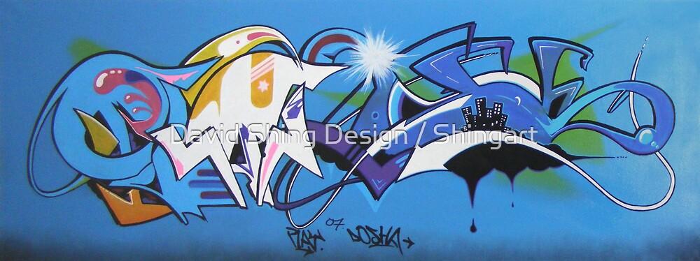 07 (play_Dosha) graffiti canvas by David Shing Design / Shingart