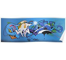 07 (play_Dosha) graffiti canvas Poster