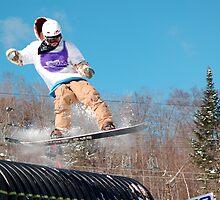 snowboarder by Roslyn Lunetta