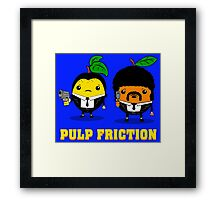 Pulp Friction Framed Print