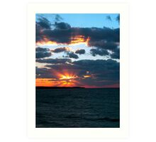 Fall sunset over Aquinnah Art Print