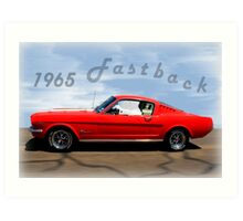1965 Ford Mustang Fastback Art Print