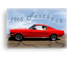 1965 Ford Mustang Fastback Canvas Print