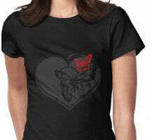 Passionate Butterfly Womens Fitted T-Shirt