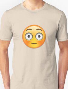 Emoji Flushed Face Unisex T-Shirt