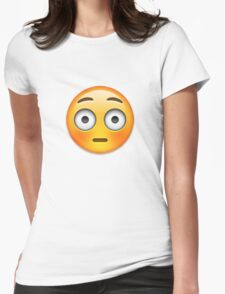 Emoji Flushed Face Womens Fitted T-Shirt