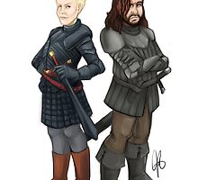 Brienne and The Hound by SavageLucy42