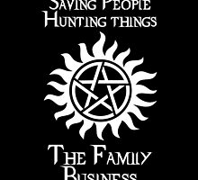 The Winchester Family Motto (on Black) by MeitisMitsune