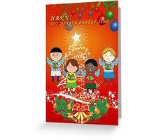 Hark Soccer Angels Greeting Card