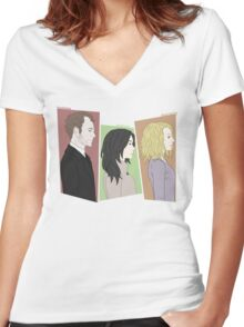 The Detectives and the Criminal Women's Fitted V-Neck T-Shirt