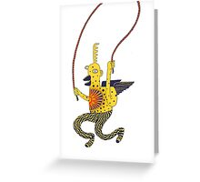 jump monkey jump Greeting Card