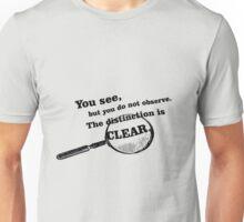 "Sherlock Holmes ""Observe"" Unisex T-Shirt"