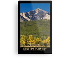 Golden Longs Peak 14259 Poster Metal Print