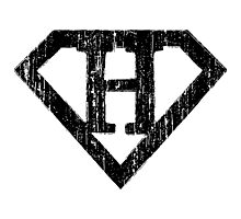 H letter in Superman style Photographic Print