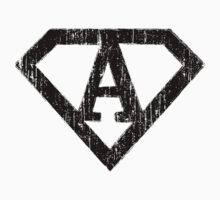 A letter in Superman style Baby Tee