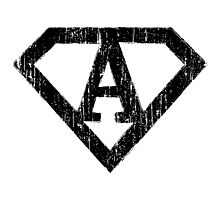 A letter in Superman style Photographic Print