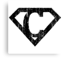 C letter in Superman style Canvas Print