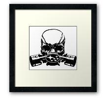 Subie Skull Mask Framed Print