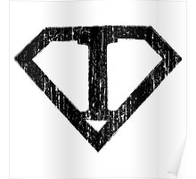 I letter in Superman style Poster