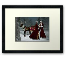Saint Nick and His Love Framed Print