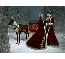 Saint Nick and His Love Photographic Print