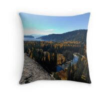 Payette Lake from Thinking Rock Throw Pillow