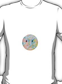 Multi-Colored Pastel Moon Emoji T-Shirt