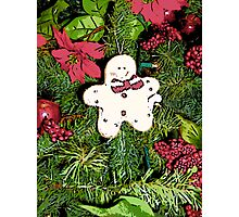 Comic Abstract Gingerbread Man Photographic Print